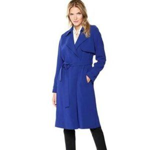 Theory Belted Oaklane B Trench Coat Cosmic Blue